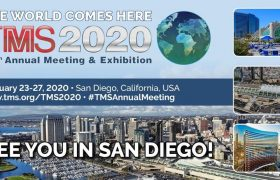 Meet us at TMS 2020 February 23-27, 2020 | San Diego | BOOTH 721